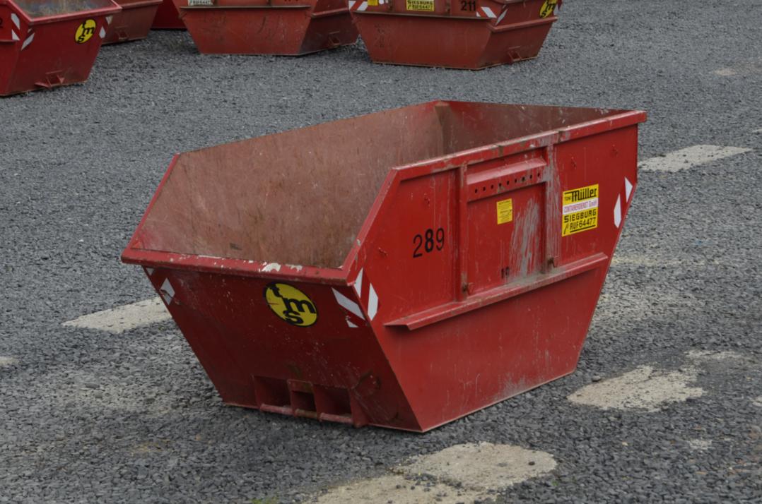 10 cbm Container aus der Vogelperspektive