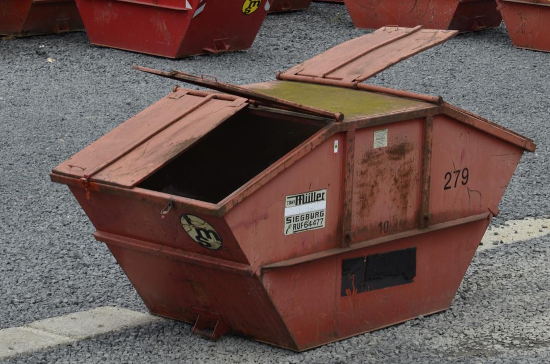 10 cbm Deckel-Container aus der Vogelperspektive