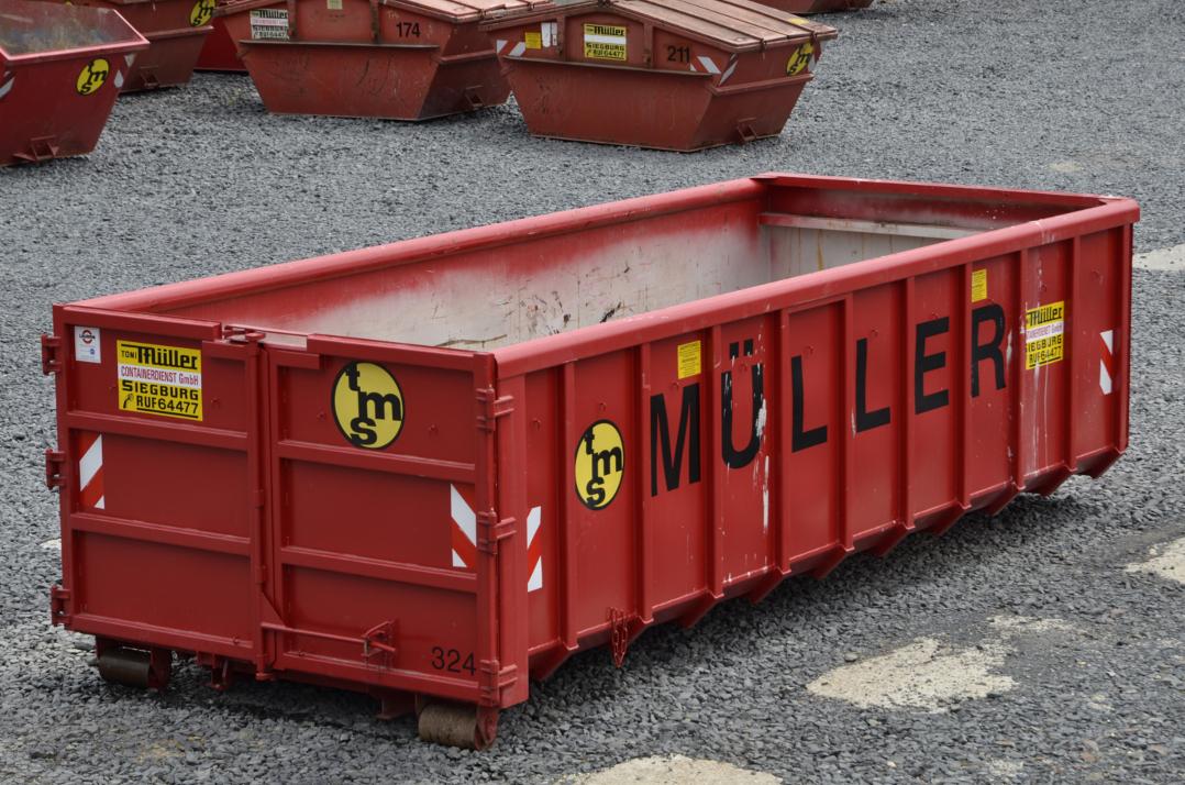 20 cbm Container aus der Vogelperspektive