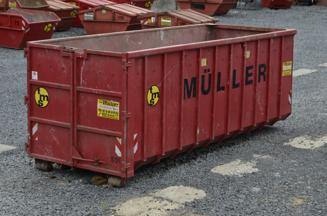 36 cbm Container aus der Vogelperspektive